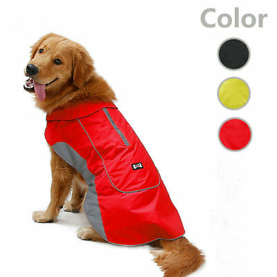 Large Dog Coat Waterproof Reflective Winter Warm Pet Puppy Clothes Sport Jacket
