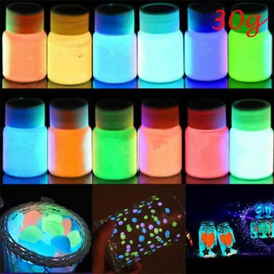 30g Fashion DIY Craft Party Luminous Paint Acrylic Pigment Glow In The Dark