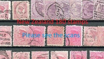 schönes lot 180x  Neuseeland New Zealand ab classic gestempelt used