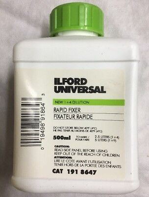 Ilford Rapid Fixer - 500ml for Black & White Paper & Film *FREE SHIPPING