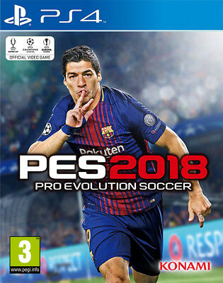 PES Pro Evolution Soccer 2018 (PS4)  BRAND NEW AND SEALED - QUICK DISPATCH