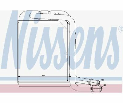 Heat Exchanger, Interior Heating Nissens 73976