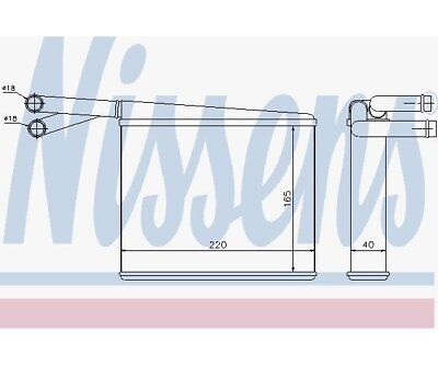 Heat Exchanger, Interior Heating Nissens 72043