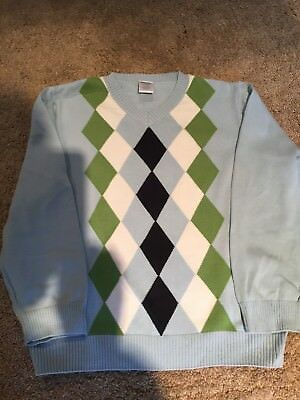 gymboree boys size5/6 argyle long sleeve sweater nwt