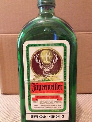 Jagermeister Bottle Ashtray - Not Melted - Very Rare!!
