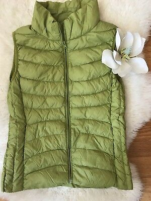 Youth Girls super thin  down vest. greene. Size XL (14). WORN ONE TIME!