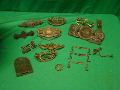 Large Lot Of Antique & Retro Drawer Pulls Hardware Parts Handles