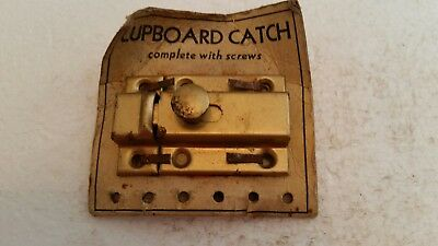 Old vintage unused metal cabinet cupboard  latch and catch   (218H)