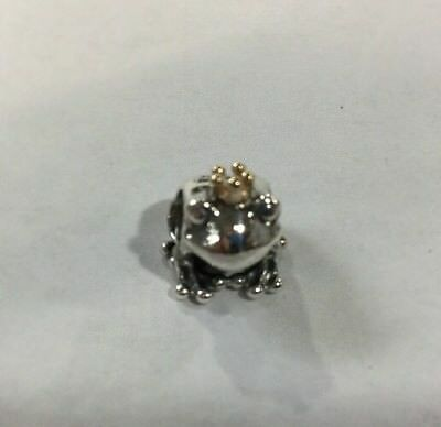 Authentic Pandora Frog Charm Sterling Silver S925 14Kt Ale 791118 Retired Nice