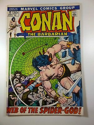 """Conan The Barbarian #13 """"Web of the Spider-God!"""" VG/Fine Condition Nice Book!!"""