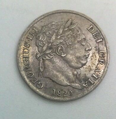Great Britain 1820 George III 4 Pence Nice Coin for  Grade very Original