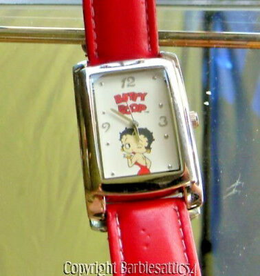 2005 Betty Boop Wrist Watch Red Band Signed NEEDS BATTERY