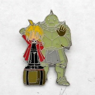 Fullmetal Alchemist Brotherhood Chibi Edward Elric & Alphonse Pin Badge Anime