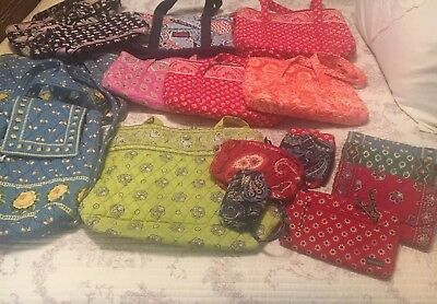 Vera Bradley Purse Wallet Backpack And More Huge Lot Of 18 Items