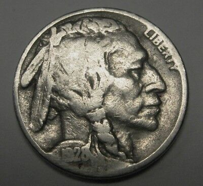 1928-S Buffalo Nickel in the VG Range Great Price DUTCH AUCTION