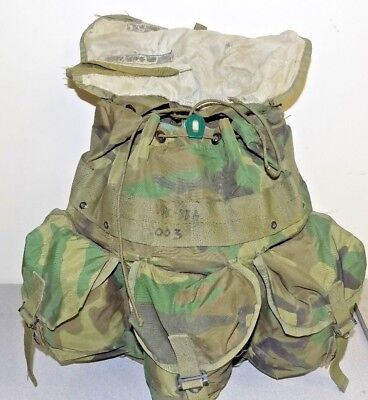 US Army USMC Alice Tactical Field Radio Back  Pack Woodland Camo Recon no straps