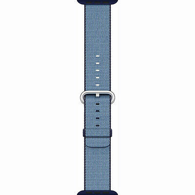 Genuine Apple Watch Woven Nylon Band (38mm, Navy/Tahoe Blue) - VG - In Box