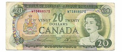 Bank of Canada 1969 Issue 20 Dollars Signature Lawson-Bouey Pick #89b