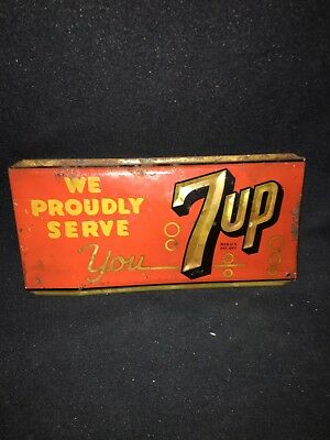 """1950's 9"""" 7 Up Sign"""