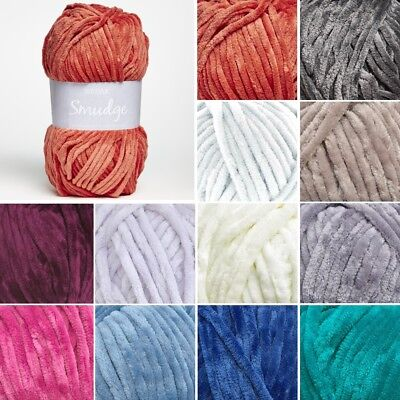 Sirdar Smudge Smooth Chenille Knit Knitting Yarn 100g Ball