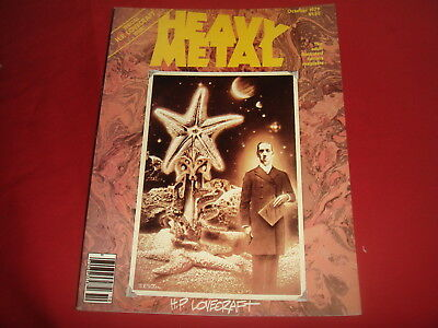 HEAVY METAL October 1979   H.P. Lovecraft Special Adult Illustrated Magazine VF