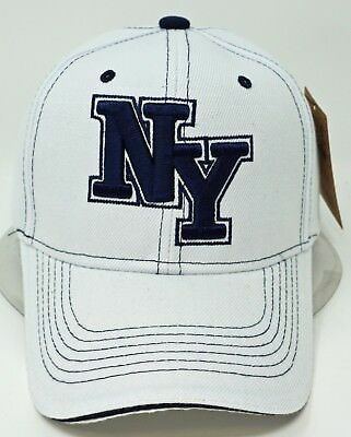 b44d66501f0 NEW YORK CITY NY USA Navy Blue Red White Flames Adjustable Hat Cap ...