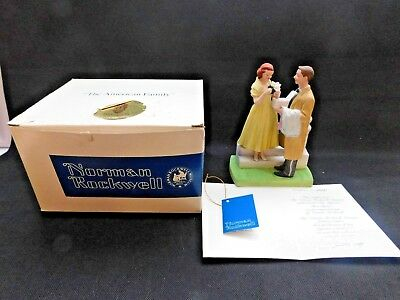 """Norman Rockwell """"the First Prom"""" Colectors Figurine From N.r. Museum, Inc"""