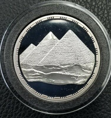 1993 The Pyramids .999 Silver Egypt 5 Pound PROOF Coin *MS* [DC1329]