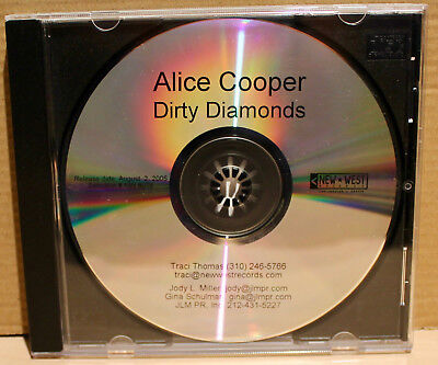 NEW-WEST Records PROMO CD NW-6078: ALICE COOPER - Dirty Diamonds - 2005 USA