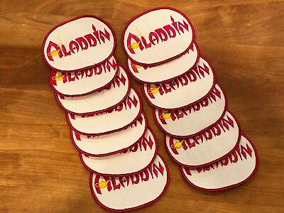 14 Vintage ALADDIN Hotel Casino Employee Patches Las Vegas - Hand Stitched