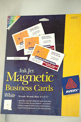 """Avery Business Card - 2"""" X 3.50"""" - Matte - 30 / Pack - White # 8374"""