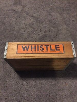 Antique Vintage Wooden Crate Advertising Vess Whistle Orange Soda New Britain CT