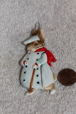1983 Schmid Easter Ornament Old Mr Bunny New w Tag Beatrix Potter Peter Rabbit