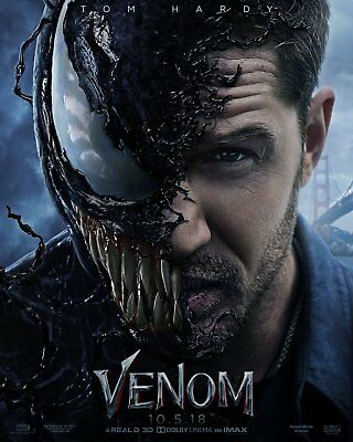 "Venom Movie Poster 13x20 24x36"" 27x40"" 32x48"" Tom Hardy 2018 New Art Film Print"