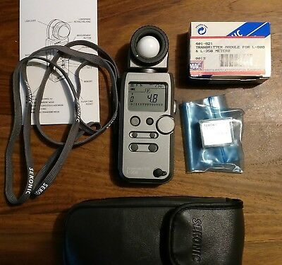Sekonic L-358 Digital Master Light Meter L358 + Unused RT-32N module - Excellent