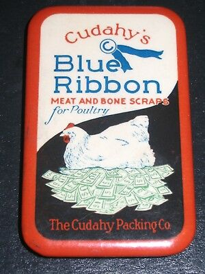 Cudahys Blue Ribbon Poultry Meat & Bone Scrap Celluloid Hone not Mirror Chicken