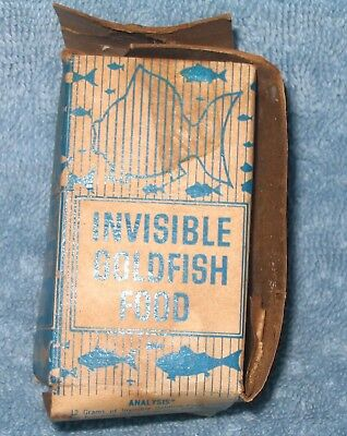 Invisible Goldfish Food Anschauung Labs Haskins NY Weird Vintage Fish Food Box