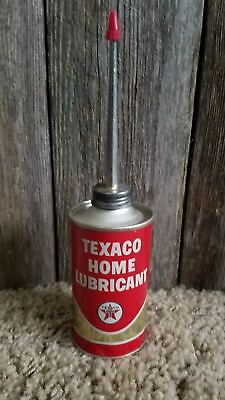 Vintage Texaco Home Lubricant Oiler Household Oil Can Unopened