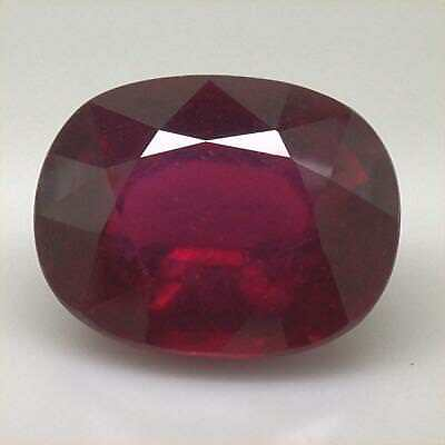 Natural Ruby Large Size 13.08 Cts Pigeon's Blood Red Color SI Clarity Oval Shape