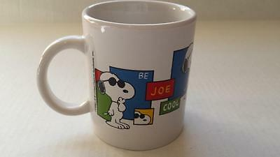 Vintage SNOOPY Peanuts Be JOE COOL Coffee Mug Cup Dog Collectable RETIRED NEW