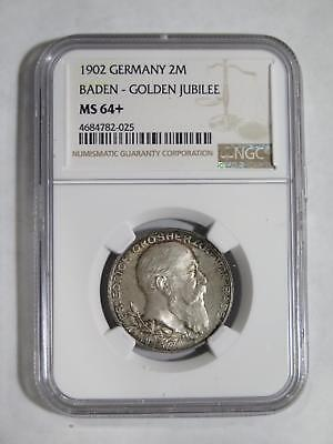Germany Baden Jubilee 1902 2 Mark Ngc Ms64+ Rainbow Toned Coin Collection Lot