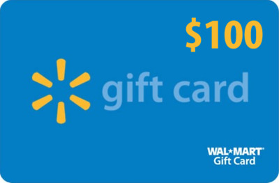 Walmart Gift Card for $100 - New - Reloadable - Free Shipping