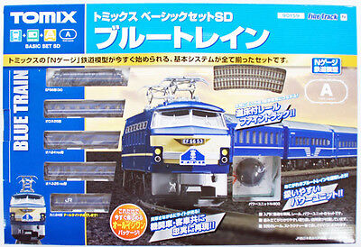 Tomix 90159 Electric Locomotive Type EF66 Blue Train Starter Set (N scale)