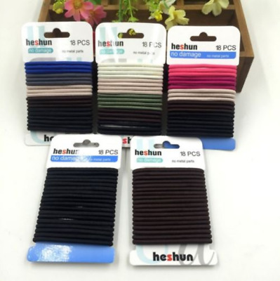 Hot 18Pcs Women Girls Hair Band Ties Rope Ring Elastic Hairband Ponytail Holder