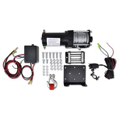 Electric Winch 3000 lb with Plate Roller Fairlead B1Z0