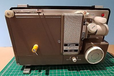 Canon S-2 Silent Dual 8mm MovieProjector. Includes Cover & Manual.