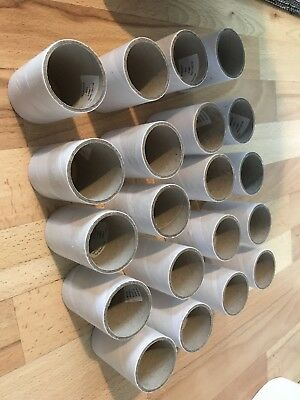 Lot of 20 3Inch Carboard Tubes DIY CRAFT