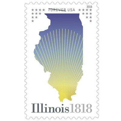 2018 50c Illinois Statehood, 200th Anniversary Scott 5274 Mint F/VF NH