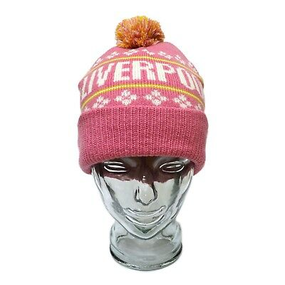 Liverpool Bobble Hat & Glove Set Birthday Gift Pink One Size