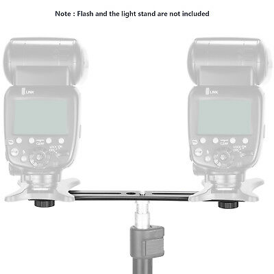 """Neewer 8"""" Dual Camera Flash Mount Tripod Bracket for 3D Stereo Photography"""